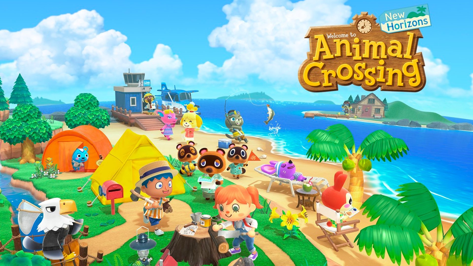 Animal Crossing 2 - Splash screen scene from the popular computer game
