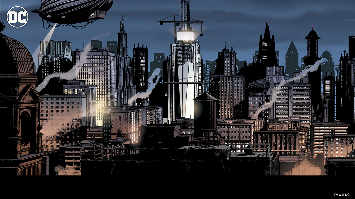 DC Comics Gotham City - Gotham City comic book drawing