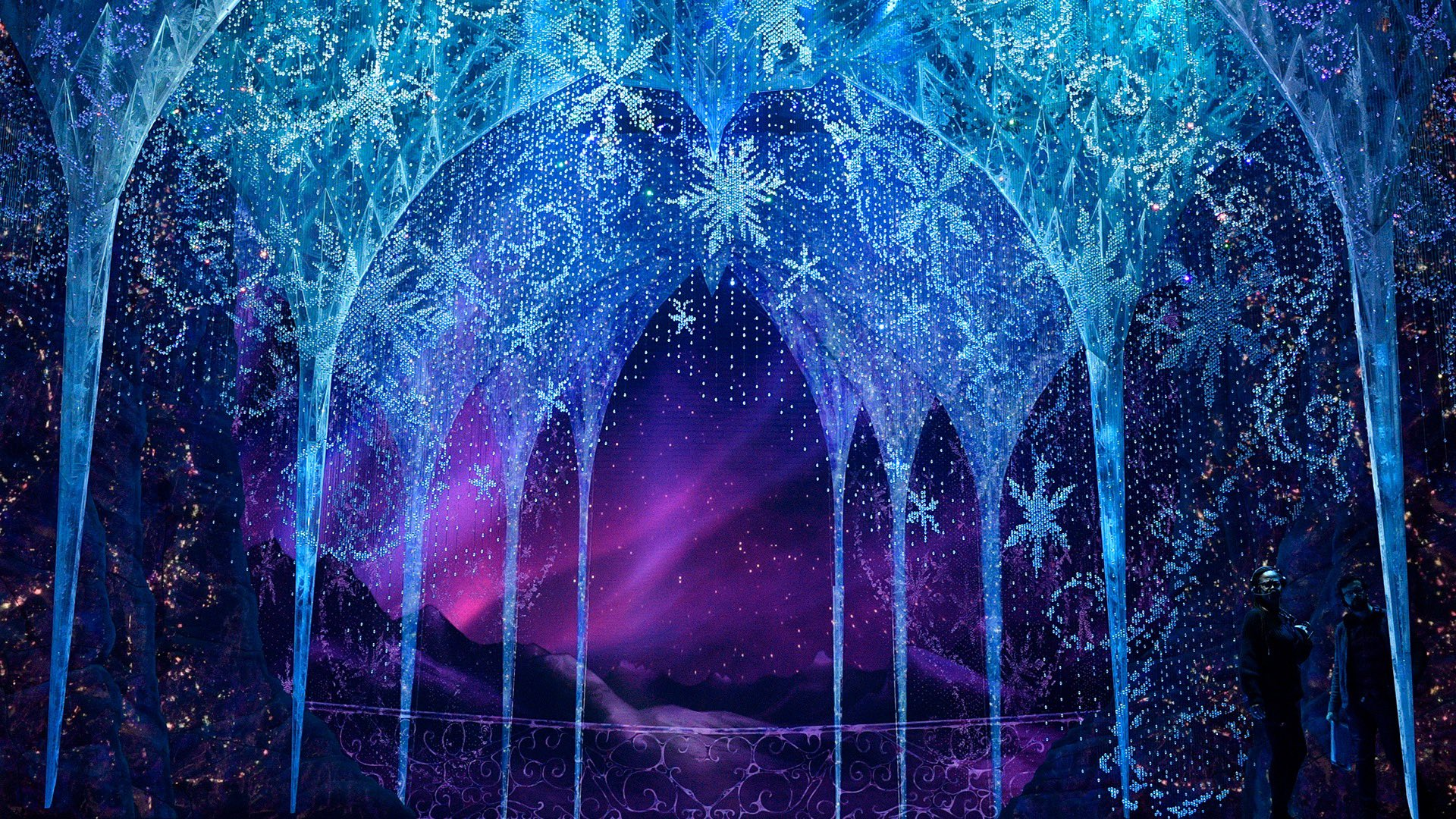 Frozen 2 - Ice landscape from the Frozen Broadway musical