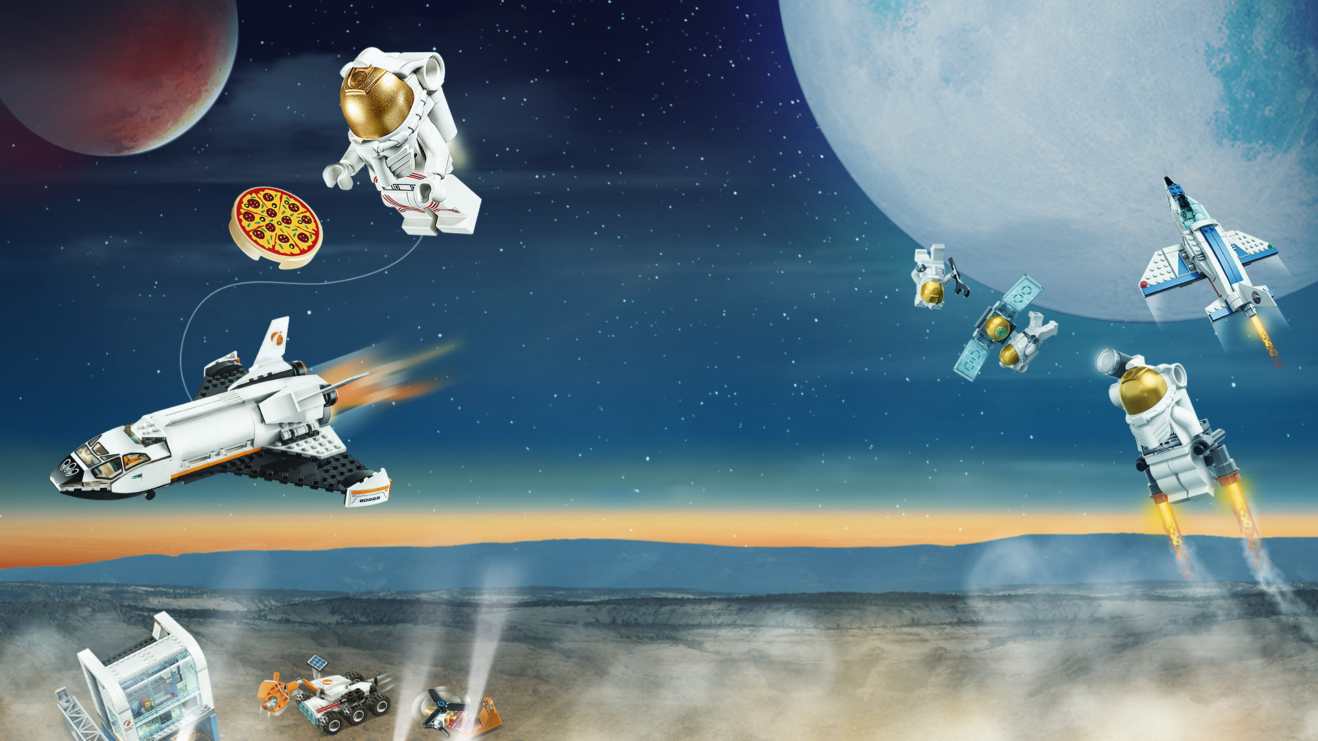 Lego Space - Space with planets and Lego