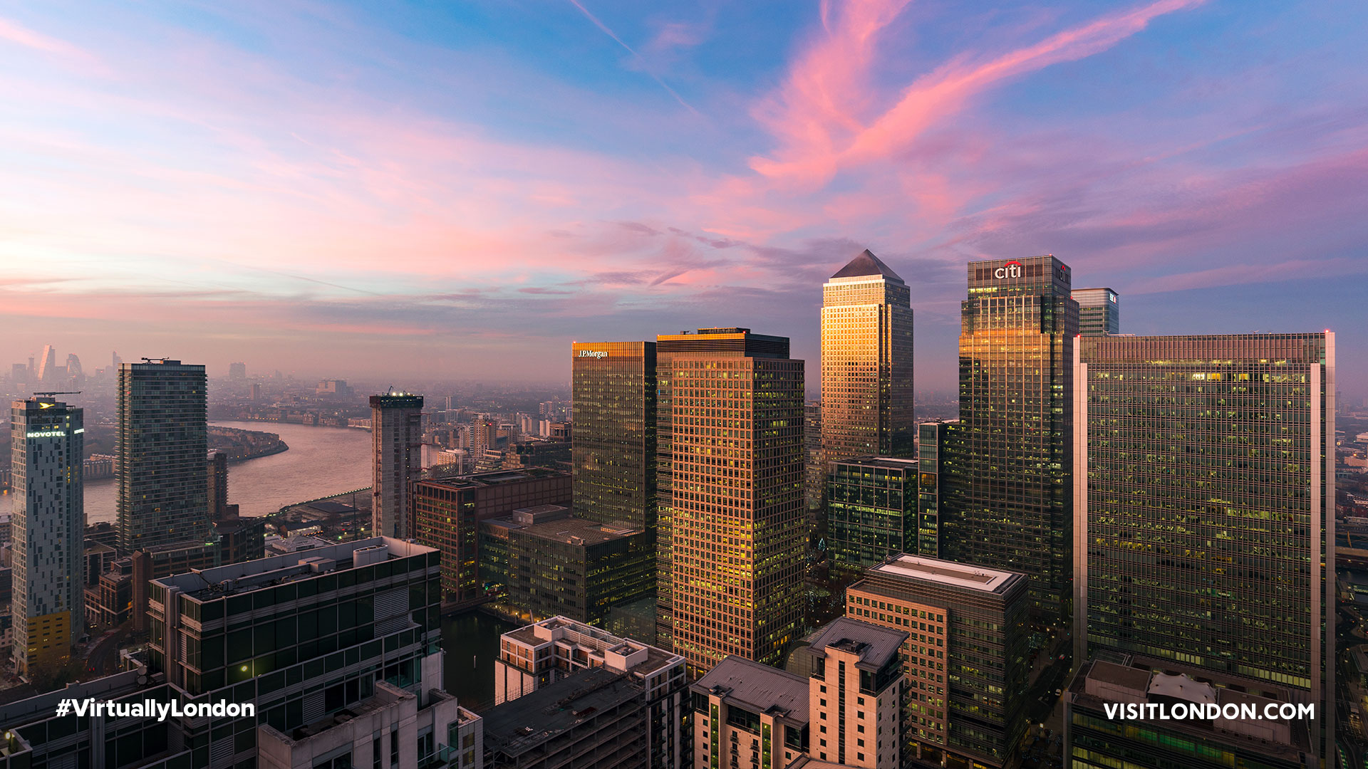 London - Canary Wharf - Canary Wharf sunset