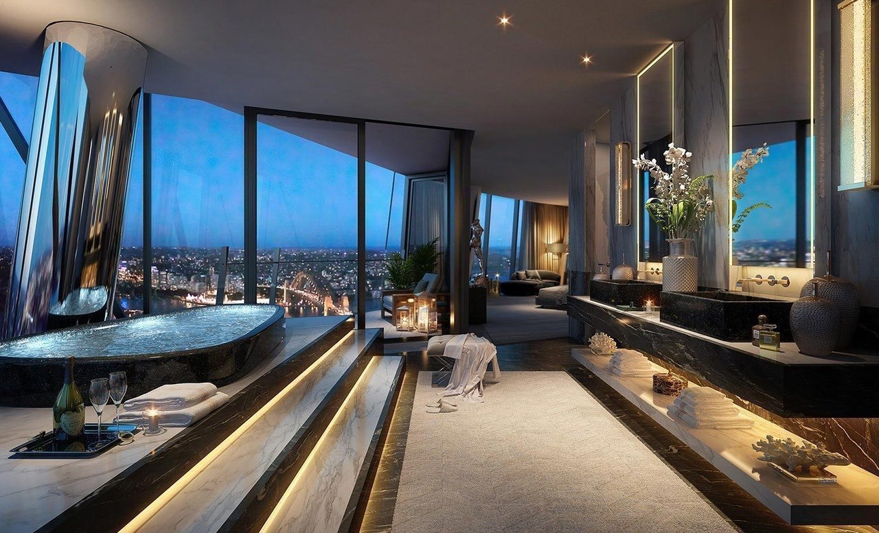 Sydney Penthouse 2 - Bathroom with a view