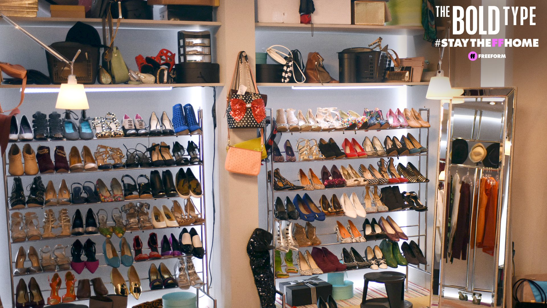 The Bold Type 3 - Racks of shoes