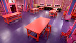 Ru Pauls Drag Race 2 - Show Set with tables and chairs