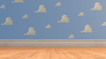 Toy Story - Andy's and the toys bedroom wallpaper and floor