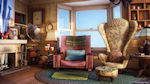 Up! - Armchairs and main living room from the Pixar movie Up!